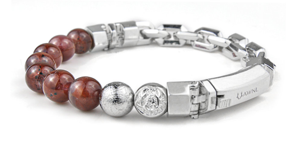 Swedish Meteorite Auralite 23 Men's Bracelet