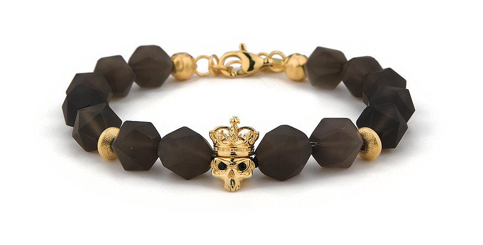 Smoky Quartz Men's Energy Bracelet