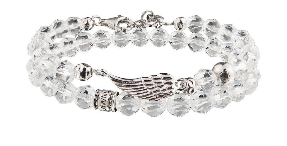 Brazil White Quartz Beads Stacking Bracelet