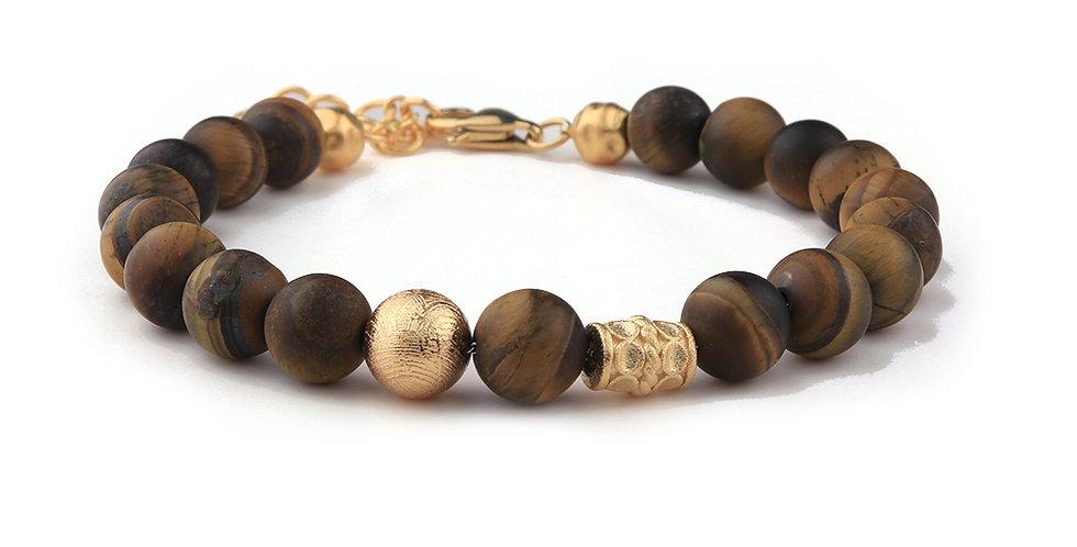 Swedish Meteorite Tigers Eye Stone Men's Bracelet