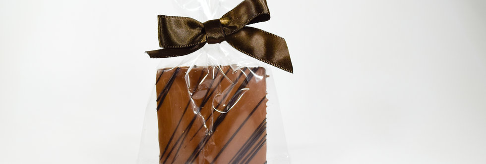 Graham Cracker Duet Dipped in Milk Chocolate with Dark Chocolate Stripes