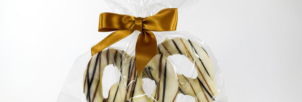 Ivory Chocolate Covered Pretzel Twists Duet