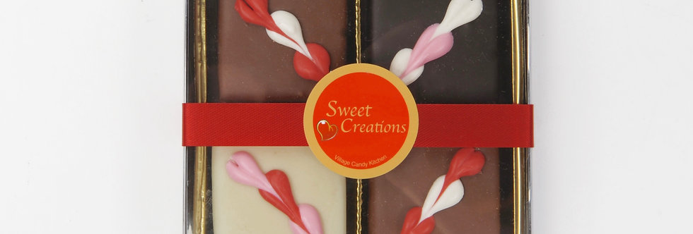 Valentine's Chocolate Covered Fudge Box