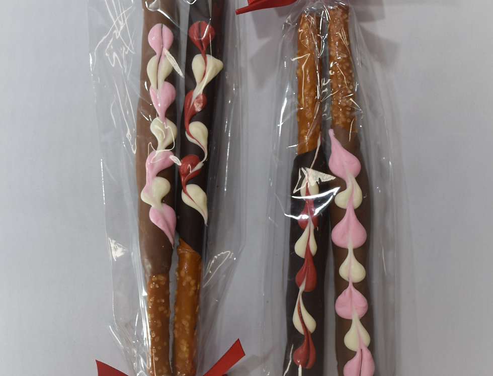 """Signature"" Valentine Caramel Pretzel Rods"
