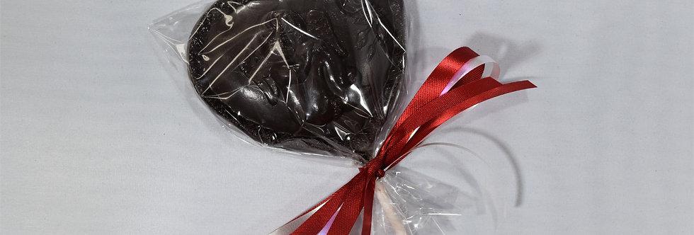 Solid Dark Chocolate Valentine Heart