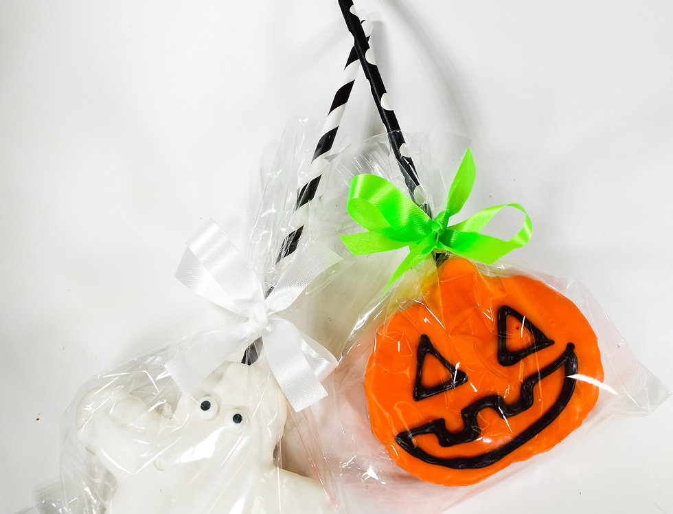 Halloween Rice Krispy Treat Pops