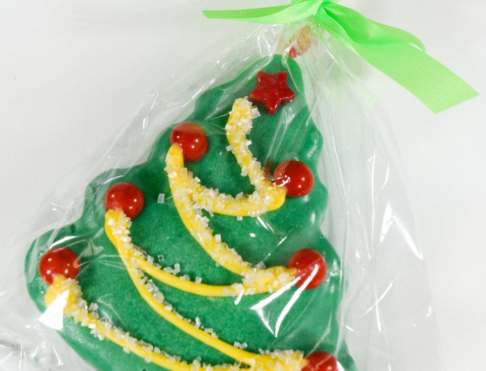 Holiday Covered Rice Krispy Pop - Tree