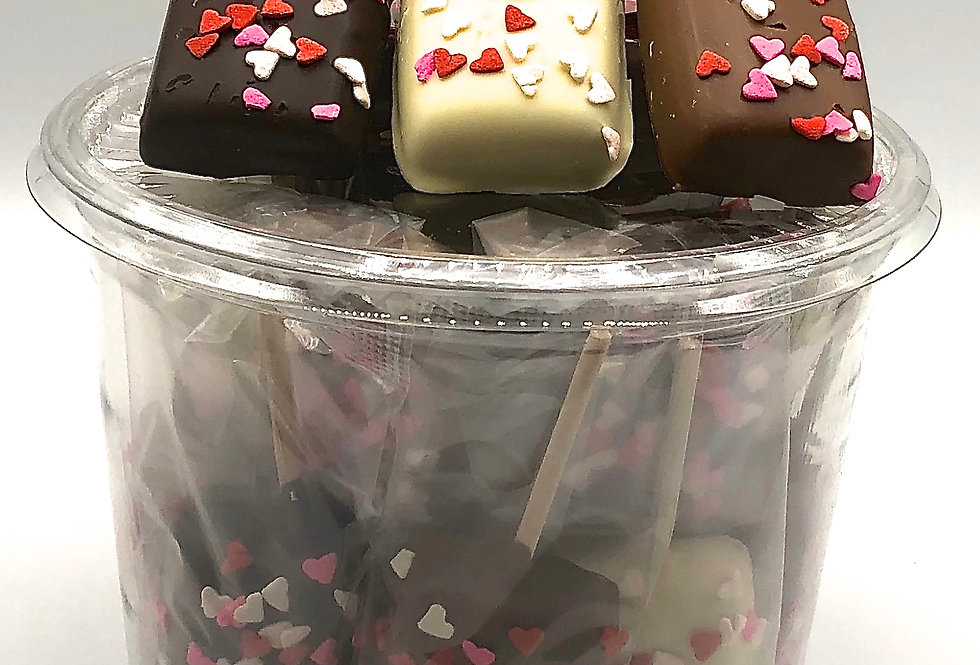 Chocolate Covered Caramel Suckers