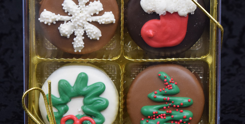 Holiday Chocolate Covered Oreo Cookie Box