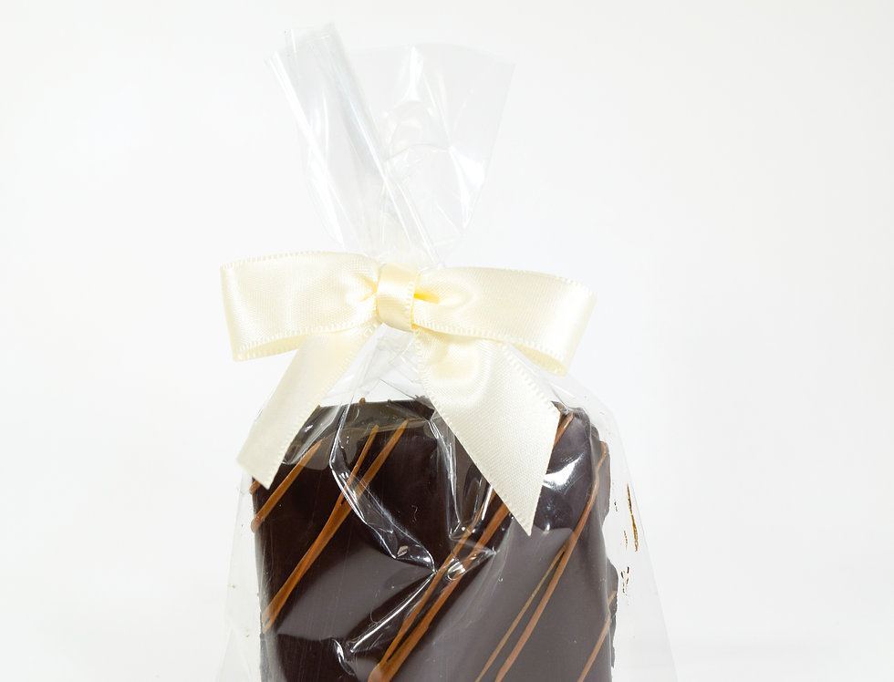 Graham Cracker Duet Dipped in Dark Chocolate with Milk Chocolate Stripes