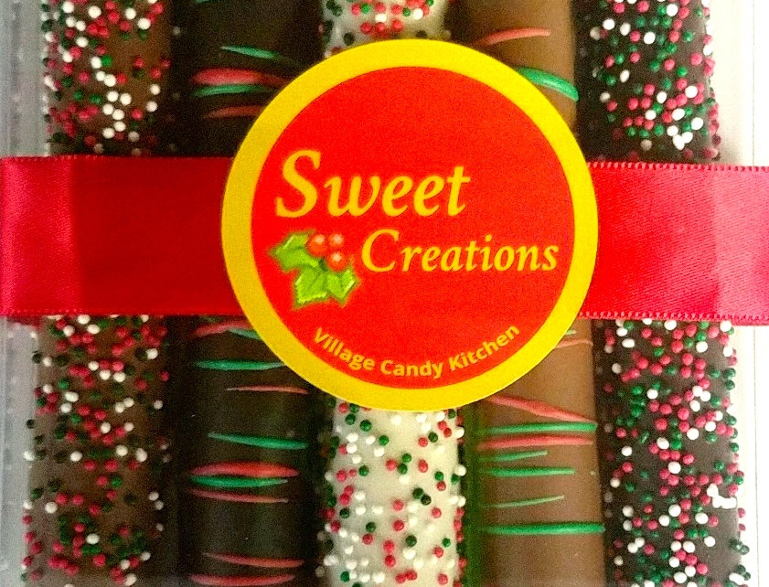 Caramel Pretzel Rod Gift Box