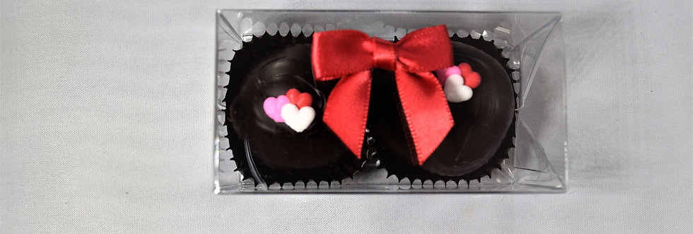 Really chocolate Truffles Triple Heart Decoration