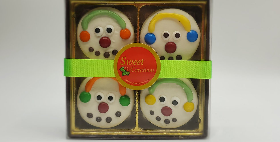 Oreo Cookie box White Snowmen