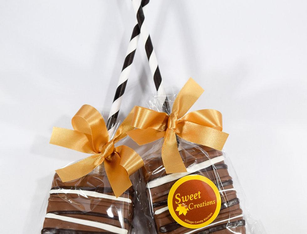 Rice Krispy Treat Pop Dipped in Milk Chocolate