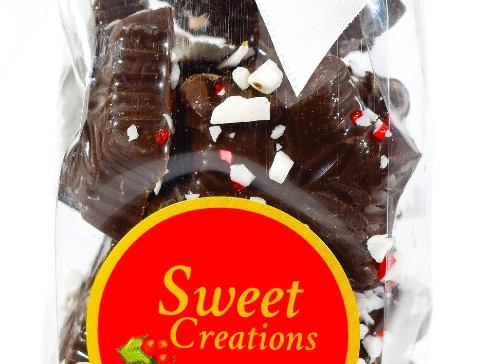 Dark Chocolate Peppermint Snowflakes