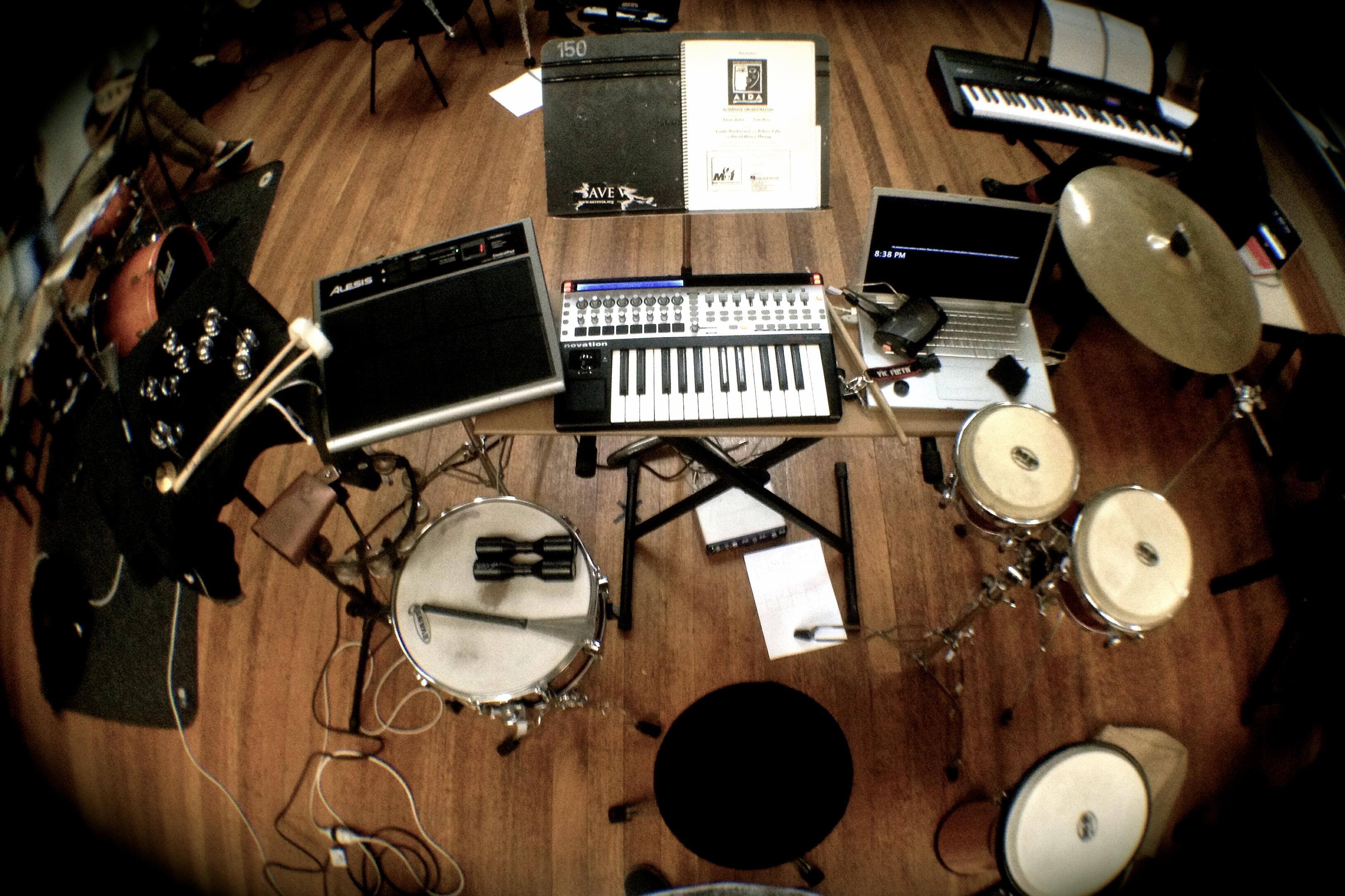 Percussion setup for AIDA 2014