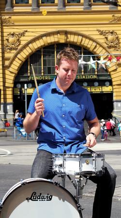 Flinders St Station drums