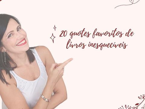 20 FRASES INESQUECÍVEIS DE LIVROS QUE TE FARÃO SUSPIRAR...