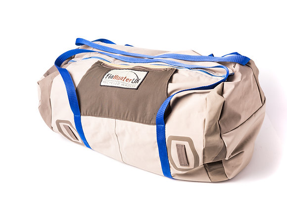 Teviot Duffle Bag -Blue Handles Red lining
