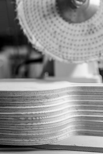 Produktion Tischtennishölzer