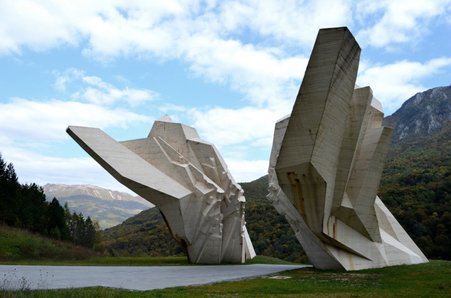 The Battle of Sutjeska Memorial Monument Complex in the Valley of Heroes