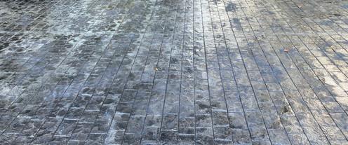 Stamped Concrete Driveway Paver Pattern