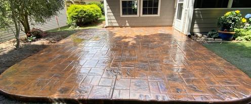 Stamped Concrete Patio Color tecnoconcrete