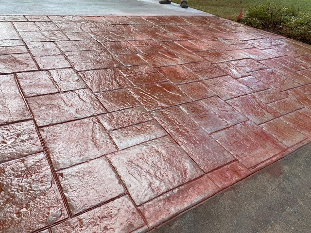 Color Concrete Stamped Concrete Patio