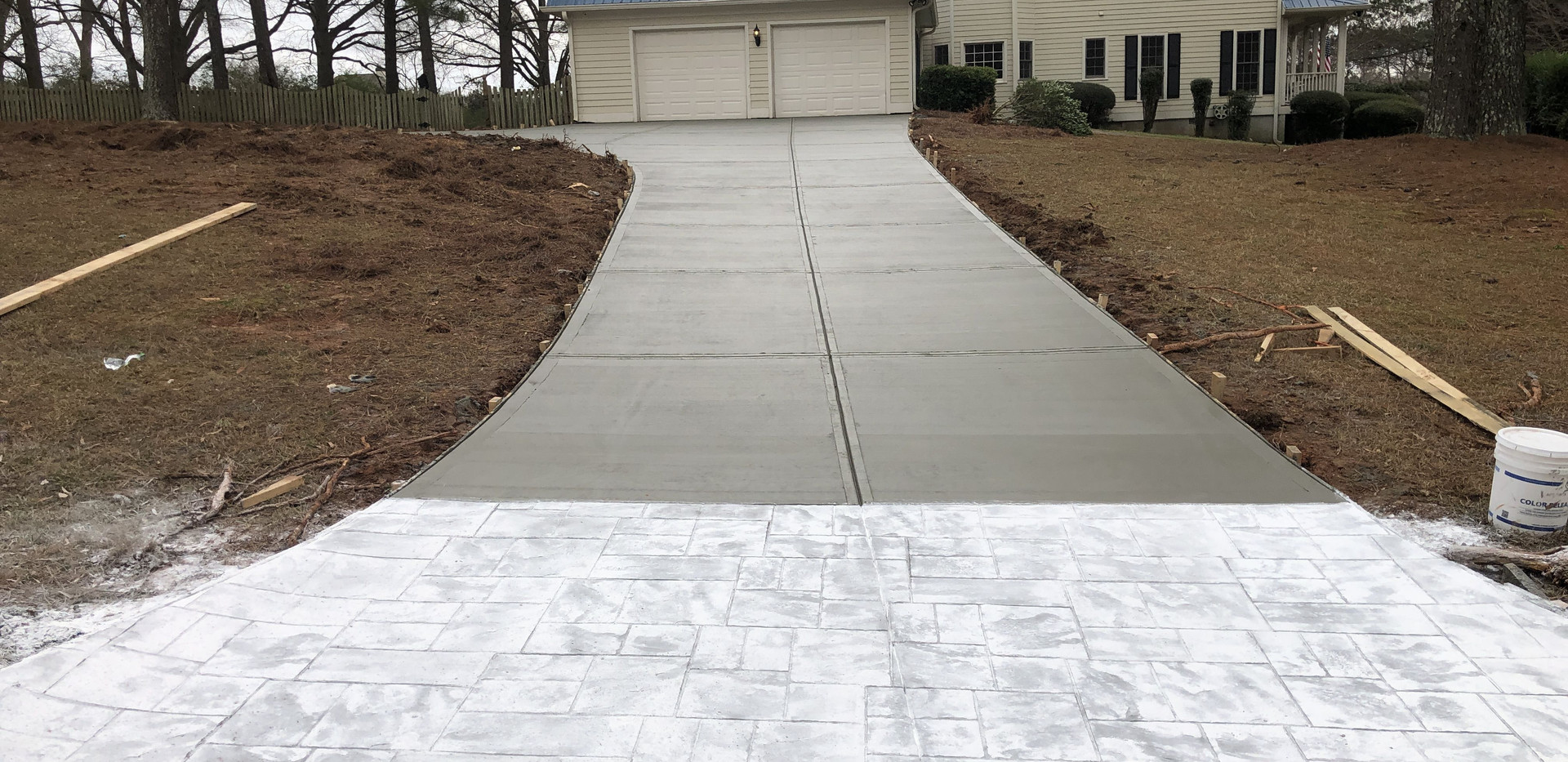 Stamped Apron Driveway Replacement
