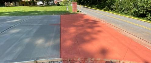 Driveway Entrance Color Concrete Apron tecnoconcrete
