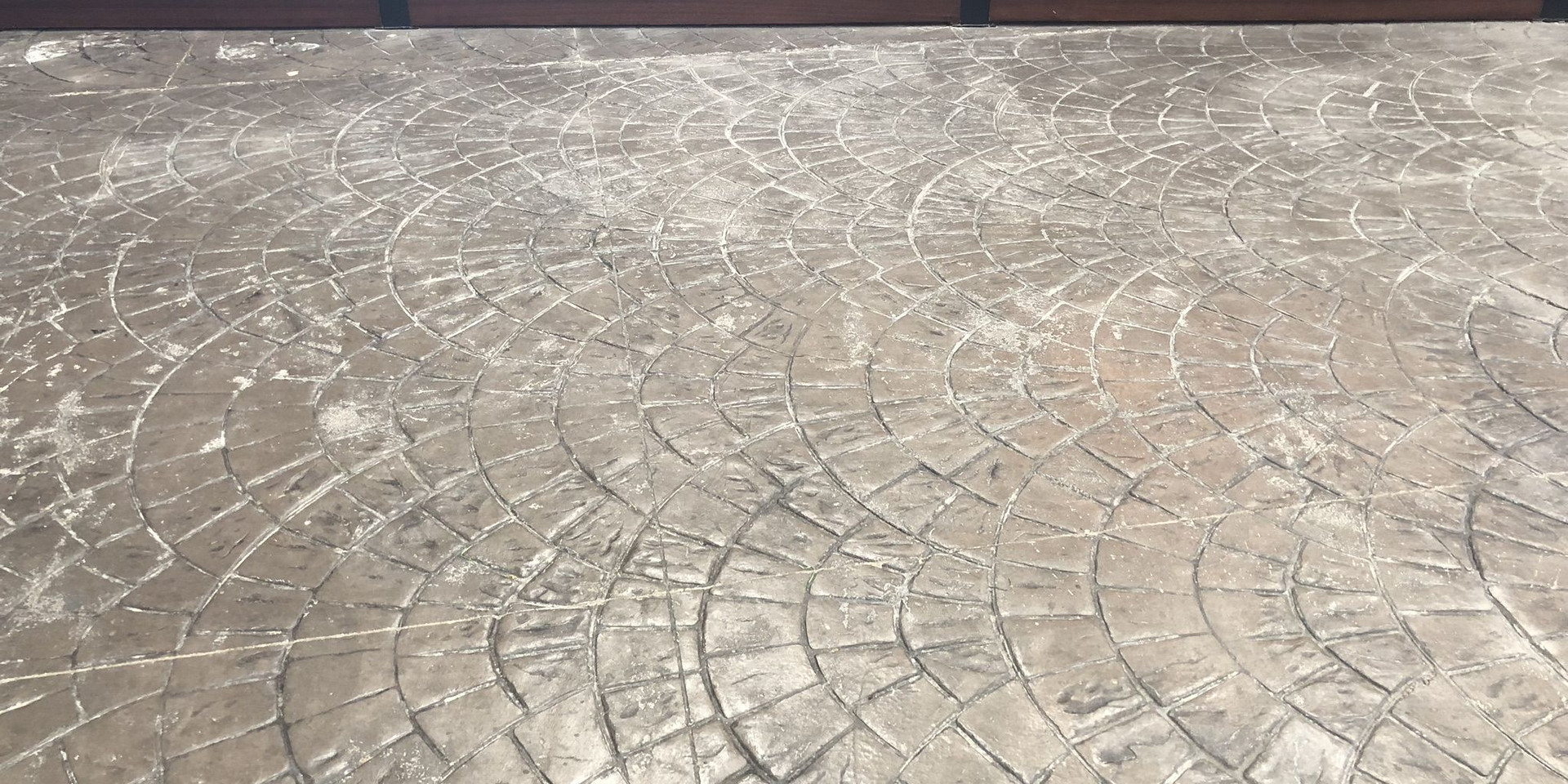 European Fan Stamped Concrete