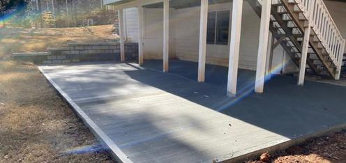 Concrete Patio Under Deck tecnoconcrete.com