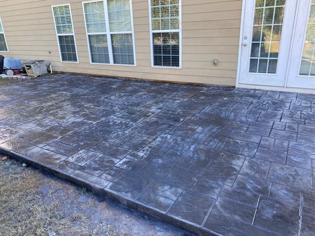 Stamped Concrete Patio Decorative tecnoconcrete