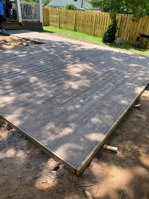 Stamped Concrete Treated Wood Lumber Des