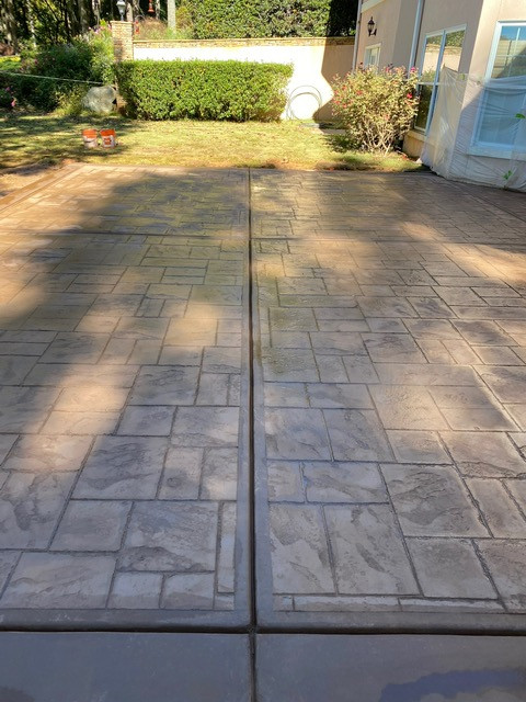 Decorative Concrete Patio Stone Stamped