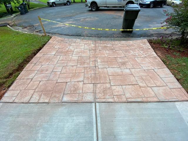 Stamped Concrete Driveway Entrance tecnoconcrete