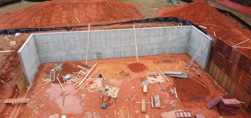 Poured Wall Foundation Retaining Wall te