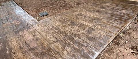 Wood Stamped Concrete Crown tecnoconcrete