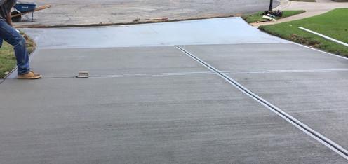 Broom Finished Driveway