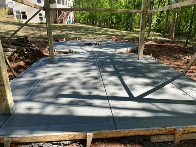 Concrete Pad Under Pergola tecnoconcrete