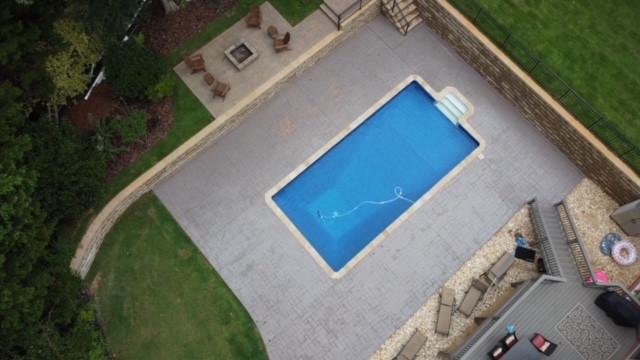 Pool Deck Stamped Concrete tecnoconcrete.com