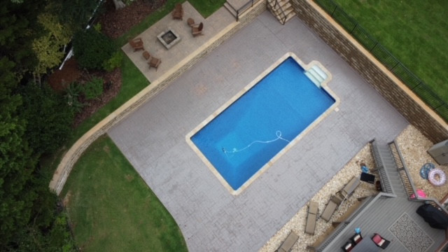 Pool Deck Stamped Concrete tecnoconcrete.com