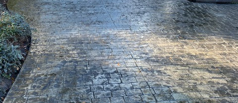 Stamped Concrete Driveway tecnoconcrete
