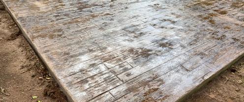 Wood Stamped Concrete Design tecnoconcrete.com