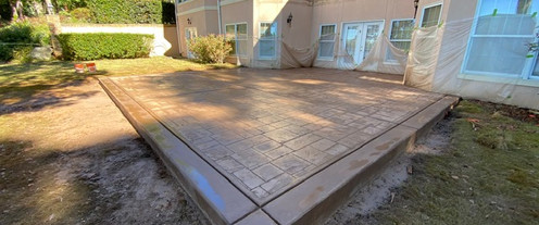 Decorative Patio Stamped Concrete tecnoconcrete