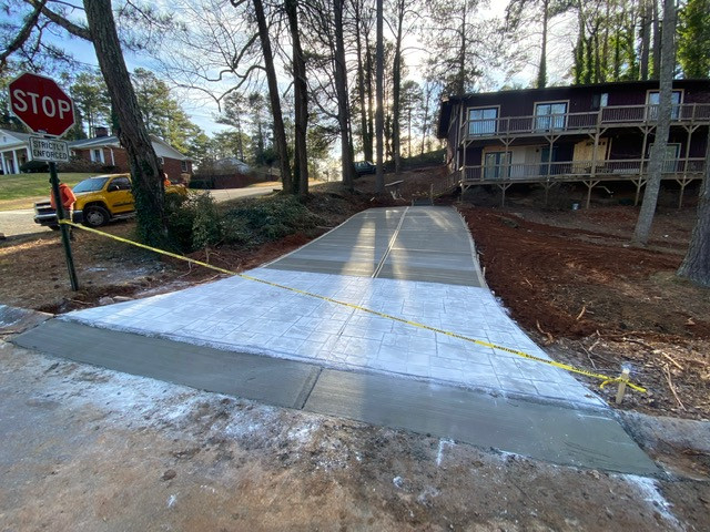 New Driveway Stamped Apron tecnoconcrete