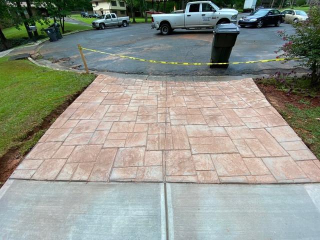 Stamped Concrete Apron Ashlar Slate Stone