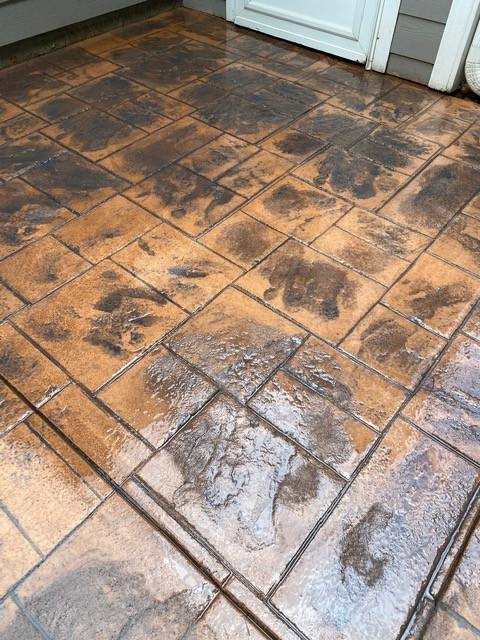 Stamped Concrete Ashlar Slate Color tecnoconcrete
