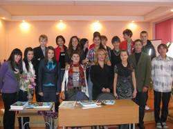 С учениками в Литературном лицее