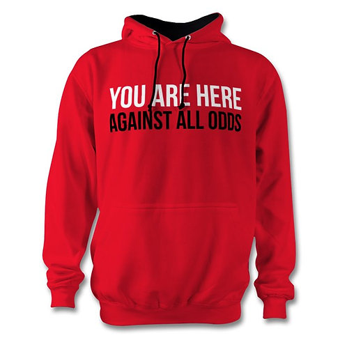Against All Odds Red Hoody